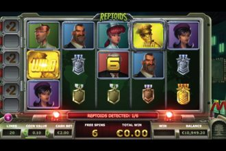 Reptoids Slot Free Spins With Wilds