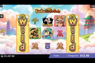 Microgaming Lucky Little Gods Slot Free Spins With Wild Reels