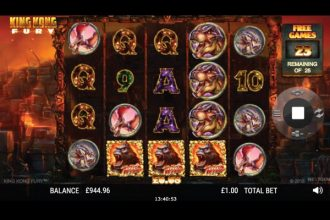 King Kong Fury Slot Free Spins