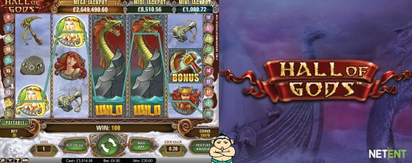 NetEnt Hall of Gods Slot Machine With Expanding Wilds
