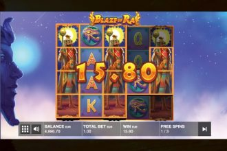Blaze of Ra Slot Free Spins With Wild Reels