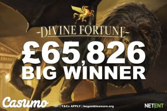 Divine Fortune Pays Out Big For Lucky UK Casumo Casino Player