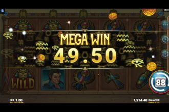 Just For The Win Temple of Tut Slot Machine Win