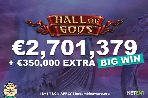 Hall of Gods Jackpot Winner Gets A Little Extra