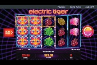 Electric Tiger Slot With Expanding Wilds