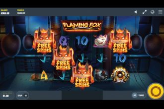 Flaming Fox Free Spins Scatters