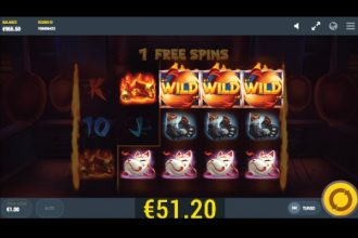 Flaming Fox Slot Free Spins Win