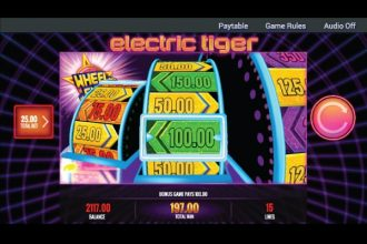 IGT Electric Tiger Slot Wheel Shot Bonus