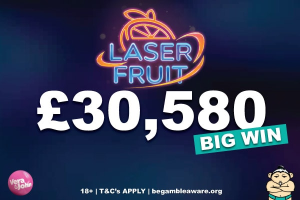 Laser Fruit Slot Big Win at Vera&John Casino Site