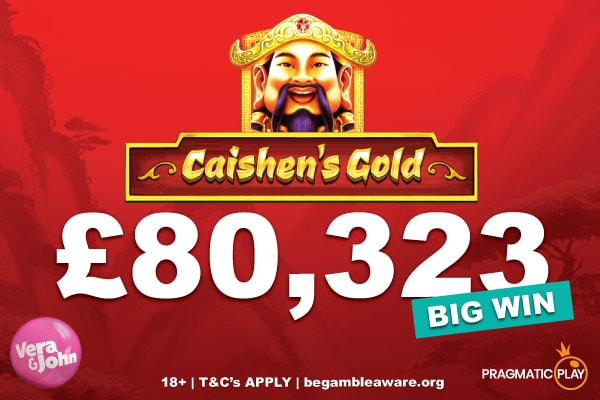Caishen's Gold Jackpot Slot Win At Vera and John Casino