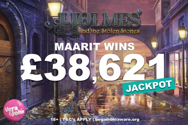 Holmes and the Stolen Stones Jackpot Slot Win