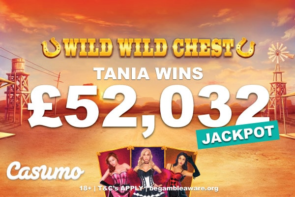 Casumo UK Casino Wild Wild Chest Jackpot Slot Win