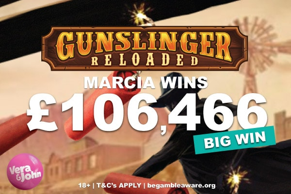 Gunslinger Reloaded Slot Big Win at Vera&John Casino