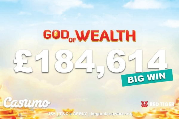 Casumo Casino God Of Wealth Slot Win