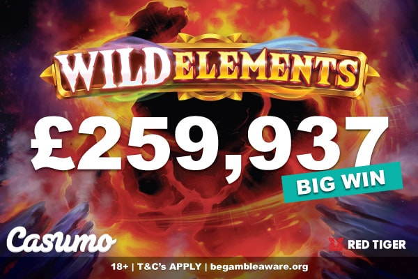 Wild Elements Slot Big Win At Casumo UK Casino
