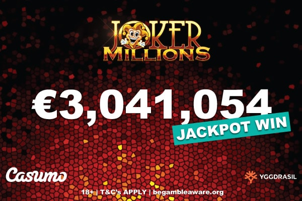 Joker Millions Big Slot Win At Casumo