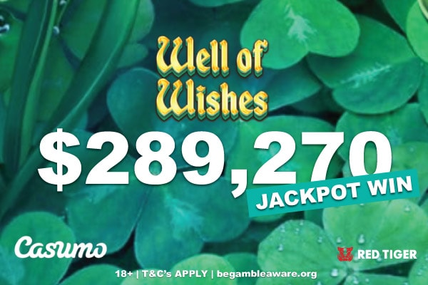 Casumo Slots Player Wins $280K On Red Tiger Well of Wishes Slot