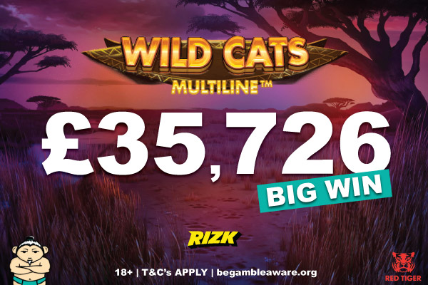 Rizk Casino Wild Casts Multiline Slot Win